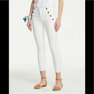 Brand new Ann Taylor white skinny jeans